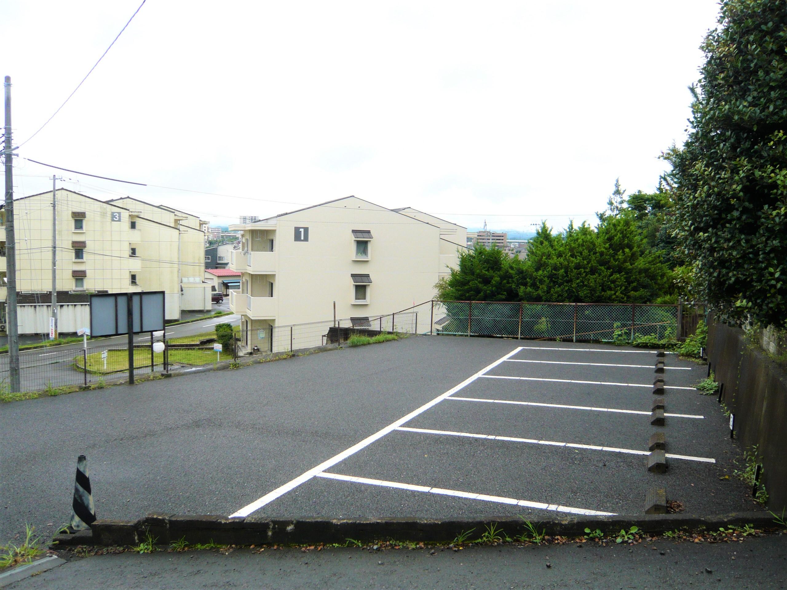 (西側の眺望)現駐車場として利用