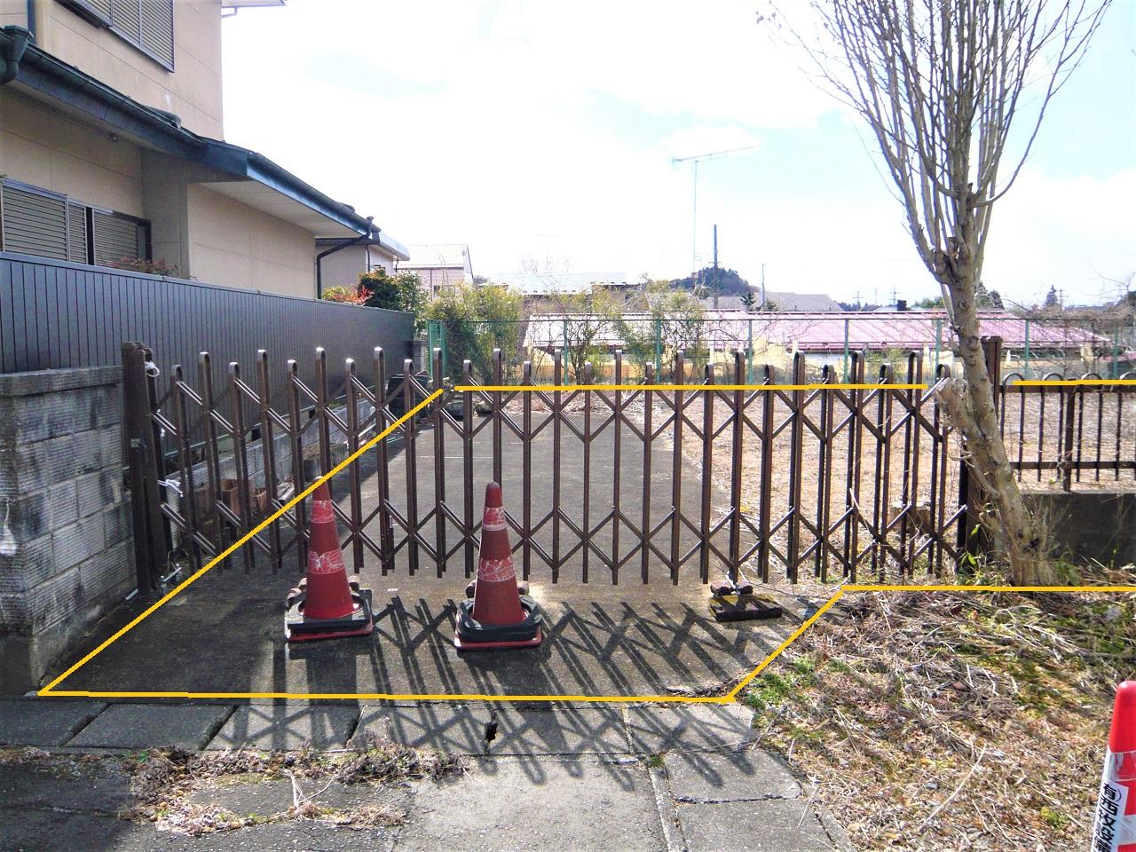 駐車用舗装は既存のまま
